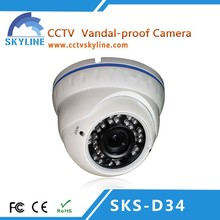 800TVL IR-Cut security Camera System with CCD IR Vandalproof Dome CCTV Camera