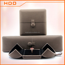 fashion double doors plastic velvet jewelry packaging box
