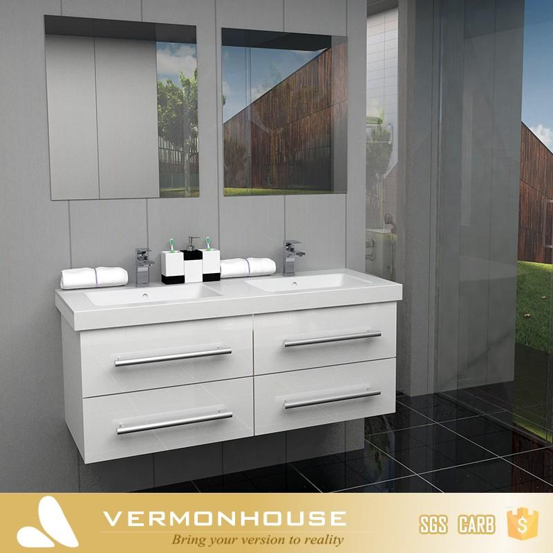 Vermont Moderne Peinture Planche de Bois Pr u00eat Fait MDF H u00f4tel Vanité Salle De Bain Meuble lavabo  # Planche Bois Salle De Bain