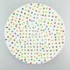 ceramic plate color dot plate serving dishes and plates