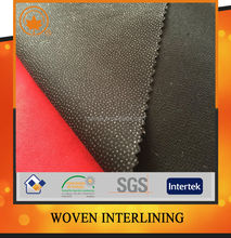 Buckram polyester twill woven fusible interlining