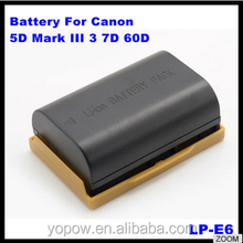7.4V 1800mAh 2000mAh 2500mAh Rechargeable Li-Ion Camera Battery LP-E6 for Canon EOS 5D Mark II /EOS 7D/EOS 60D/EOS 5D Mark3