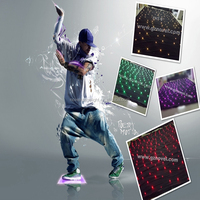 HI-COOL led star cloth ,dj booth deck stand curtain RGB led star curtain