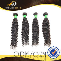 Black Colour 12-28inches Unprocessed Dye Hot Sale Wholesales brazilian deep wave hair styles