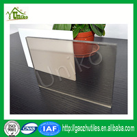 lexan uv coated matte soundproof anti-drop fire proof uv stabilized polycarbonate sheet