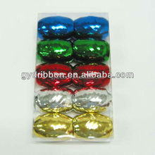 2014 HOT SALE ! Blue+golden+green+red+white Crimped Poly Curly Ribbon, Curly Ribbon Egg, PP Ribbon Cops