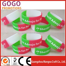 complete in specifications cheap custom silicone rubber hand band, Best quality branded glowing silicone hand bands