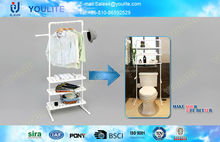 rolling moving toilet paper holder with shelf