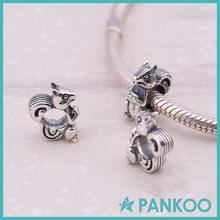 Vintage Silver Squirrel Shaped Charms