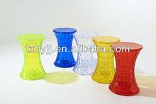 transparent plastic hot sale diamond stool