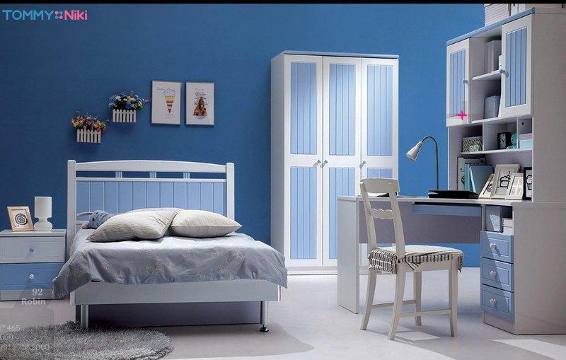 Habitacion azul y gris 2