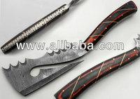 Custom Made Damascus Steel Dragon Axe Knife
