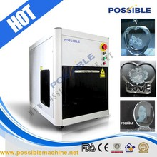 China manufacturer Possible brand arts and crafts 2d 3d crystal laser engraving machine