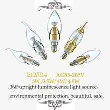 Led candle light 3W E12 E14 SMD2835