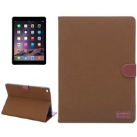 New Arrival Canvas Texture Flip Stand Leather Smart Case for iPad Air 2