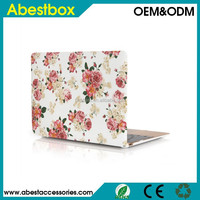 """For Macbook 12"""" Hard Cover Case, 2015 Released Flower Design PC Hard Cover Shell for Macbook 12"""" inch with Retina Display Laptop"""