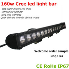 CLB 160w led light bar for Vehicle offroad, Heavty Duty, Agriculture, Mining and Marine transformation 110v led light bar