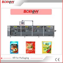 máquina empacadora de embalaje horizontal automática multifuncional sachet de 3 o 4 lados sellados moyonesa de maní