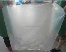 Big industry use square bottom clear plastic bag