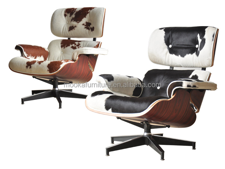 leather antique charles eames chaise lounge chair MKL28
