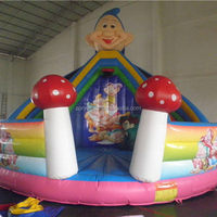 Bottom price antique christmas inflatable dry slide