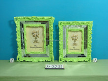 Trade Assurance $11000 Fashion hot sale latest design colorful resin funny photo frame2015