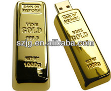 Popular Simple Novelty Golden Metal USB Flash Drive
