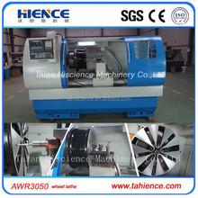 AWR3050 15-32inch high precision cheap horizontal wheel cnc lathe machine brand CK6190W