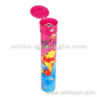 Plastic and Tinplate Pen Holder with Pencil Sharpener