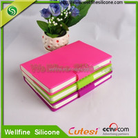 2015 hot sales plain shape silicone cover notebook lined paper