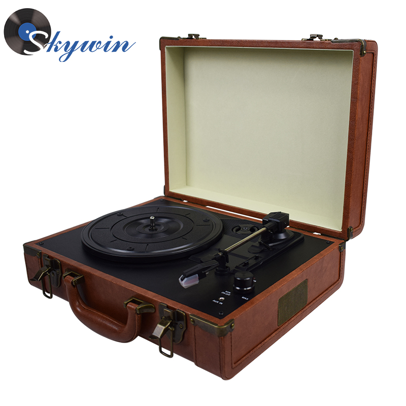 Rétro 3 vitesses Platine USB Vinyle Tourne-disque