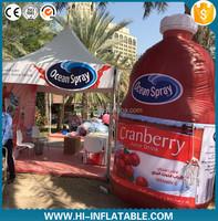 Attractive outdoor inflatables fruit juice bottle ,inflatable drinking bottle