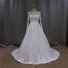 Alibaba one shoulder ruffled taffeta wedding dress beaded top