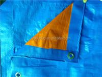 blue/orange pe coated tarpaulin fabric truck cover
