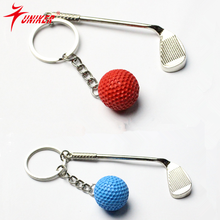 Mini golf keychain, fashion creativity keychain, movement of people essential small pendant