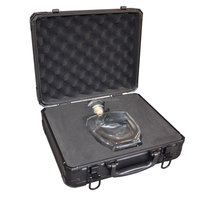Black Leather Custom Carrying Aluminum Wine Case