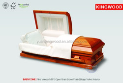 BABYCONE #45 pet casket coffin beds with high quality casket handle