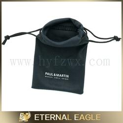 Brand new polyester velveteen pouch,microfiber eyeglass drawstring pouch,drawstring bag small