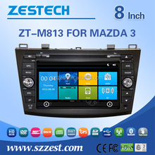 car dvd players with gps for Mazda 3 with steering wheel control rear view camera bluetooth 3G radio