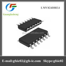 Low-voltage rail-to-rail output operational amplifiers LMV824DRE4