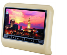 Universal 9'' external HD TFT LCD headrest car monitor dvd