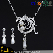 Women daily accessories long chain delicate lead and nickel safe alloy fashion jewelry sets wholesale direct sale jewelry sets