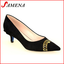Woman middle heel shoes classic lady shoes