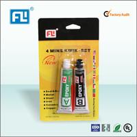 Stainless steel epoxy adhesive, 4 minutes adhesive and syringe AB