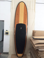 cheaper price hight quality luxury BAMBOO WOOD sup board eps epoxy / stand up paddle board with carbon fiber rail
