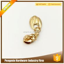 Special design best selling gold metal zipper slider