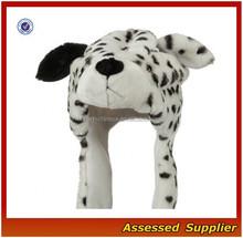 XJ01173/Dot dog plush head hat / fashion dot dog animal head hat