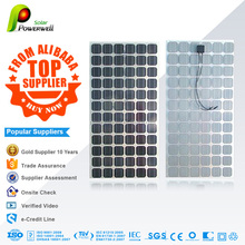Powerwell Solar 200w Mono With CE/IEC/TUV/ISO Top Supplier cheap price 200W PV mono Solar Panel transparent 125mm*125mm