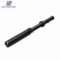 high power extendable battery powered flashlight, riot baton mace torch light