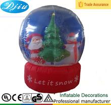 Dj-b-104 transparente inflable navidad led de plástico cristal bola de la decoración